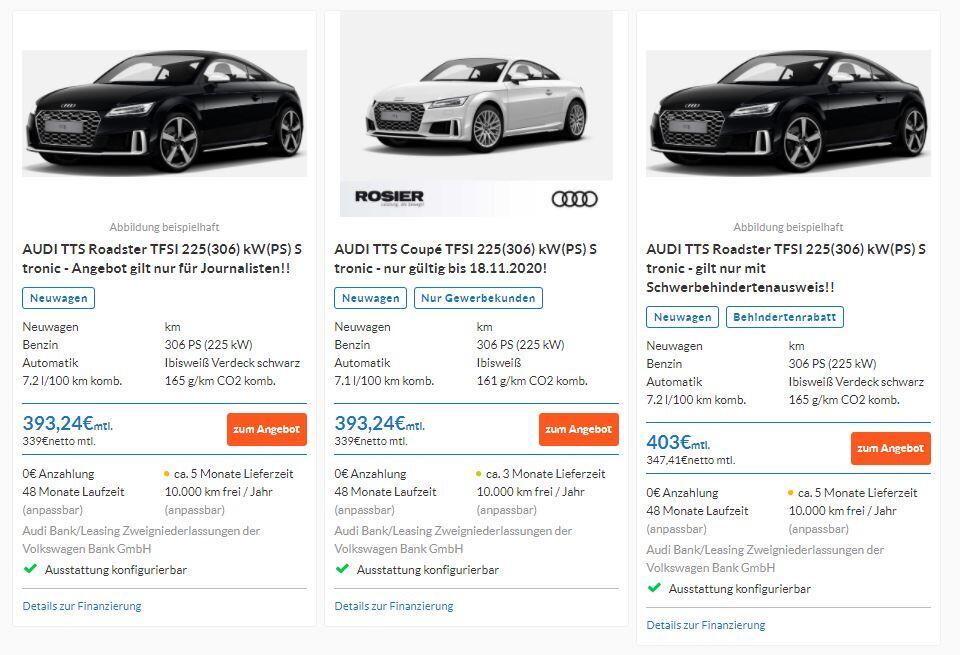 Audi Leasen trotz Schufa
